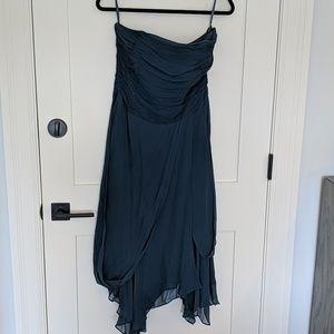 Dusty blue monsoon strapless dress